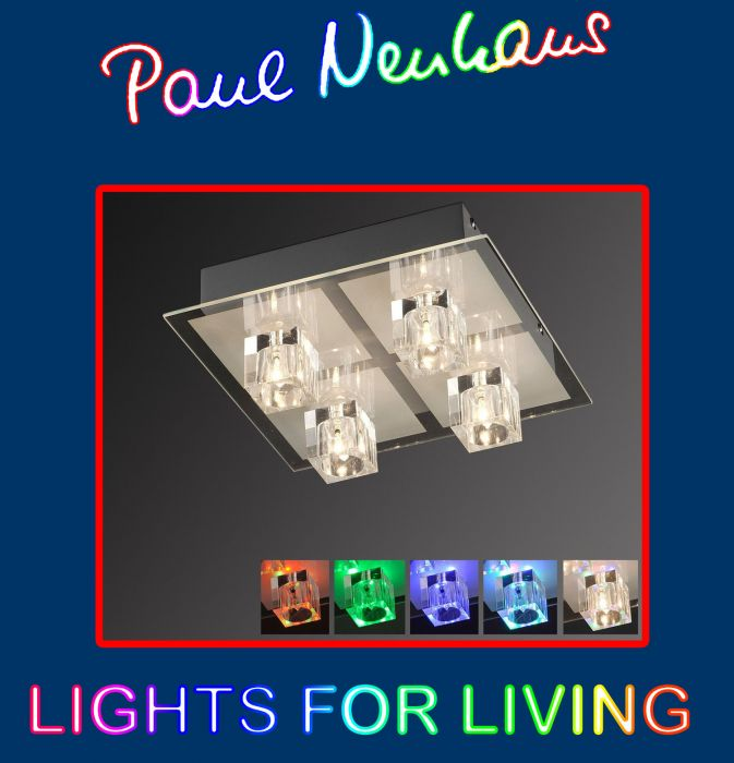 led deckenleuchte deckenlampe nevis gold leds 29w 2610 lumen 3000k paul neuhaus ebay. Black Bedroom Furniture Sets. Home Design Ideas