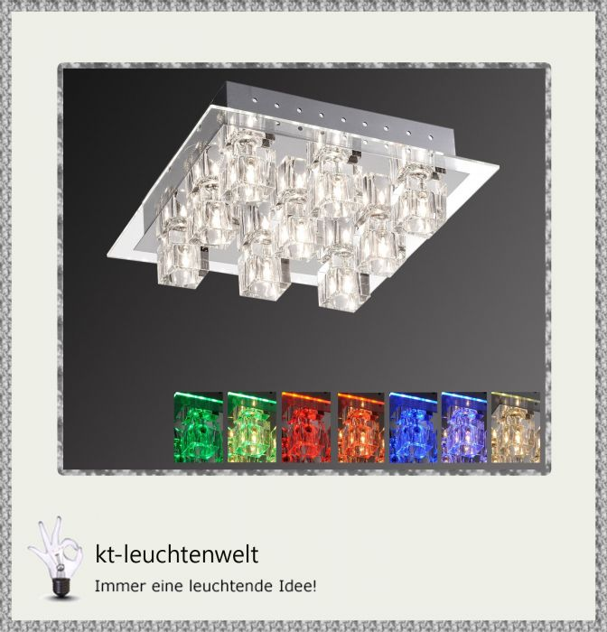 paul neuhaus led deckenleuchte deckenlampe takos 50286 17 ebay. Black Bedroom Furniture Sets. Home Design Ideas